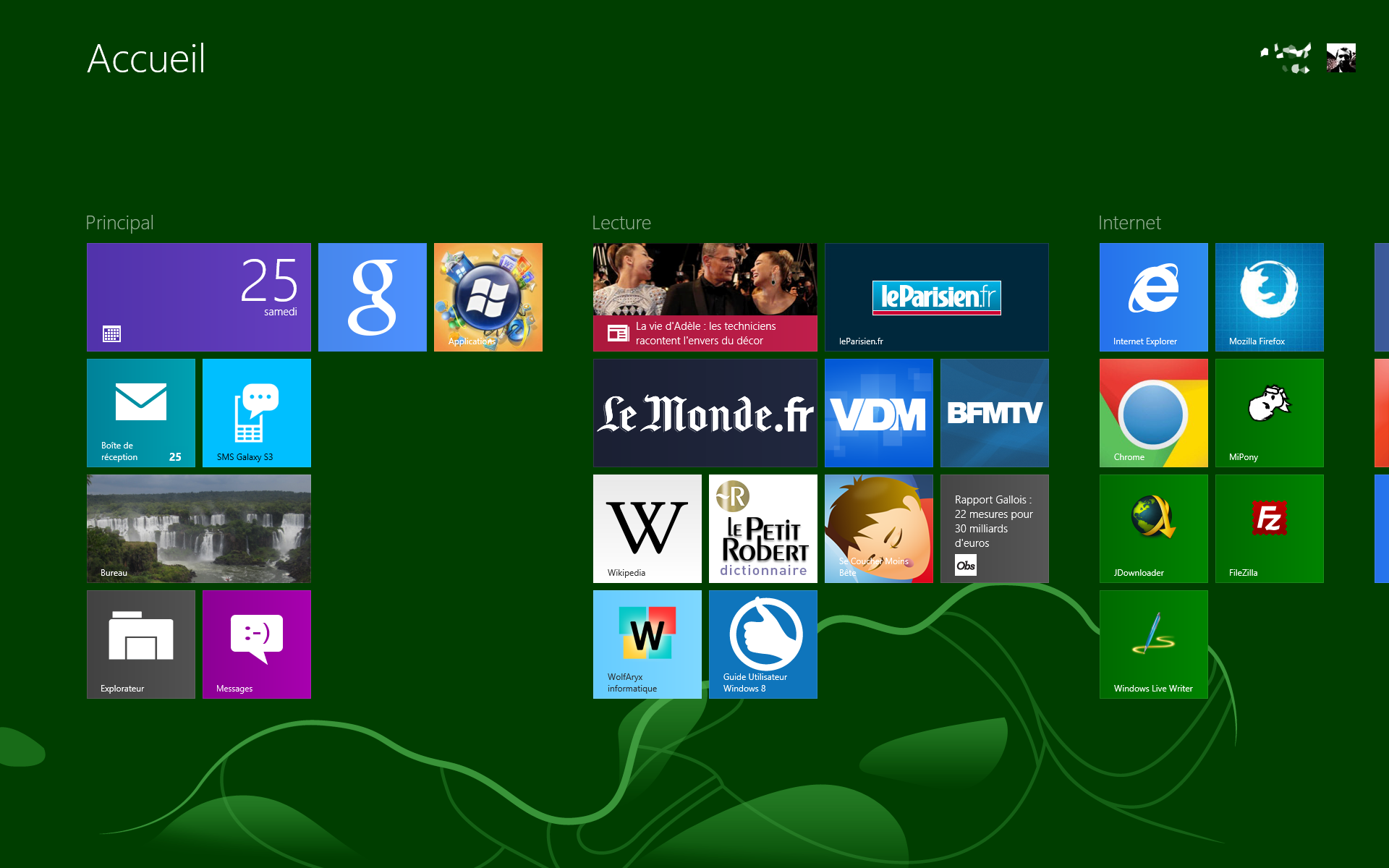 Changer Le Fond De Lécran Daccueil De Windows 8 Wolfaryx