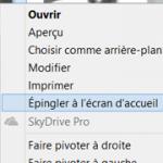 Epingler n'importe quel fichier dans Windows8