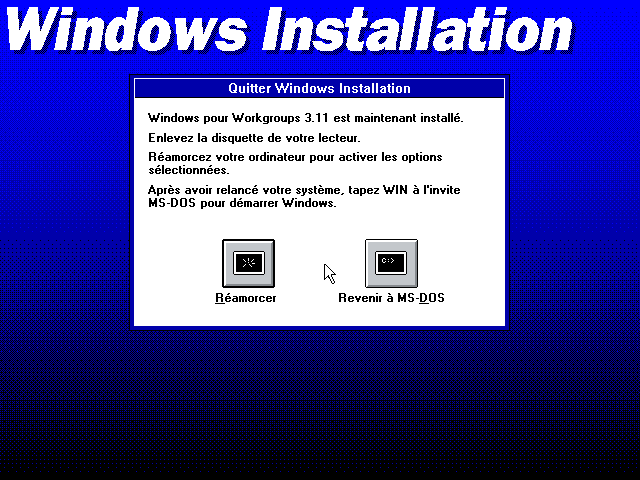 disquette windows 3.11