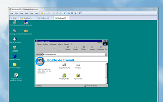 Windows 95 dans un ordinateur virtuel