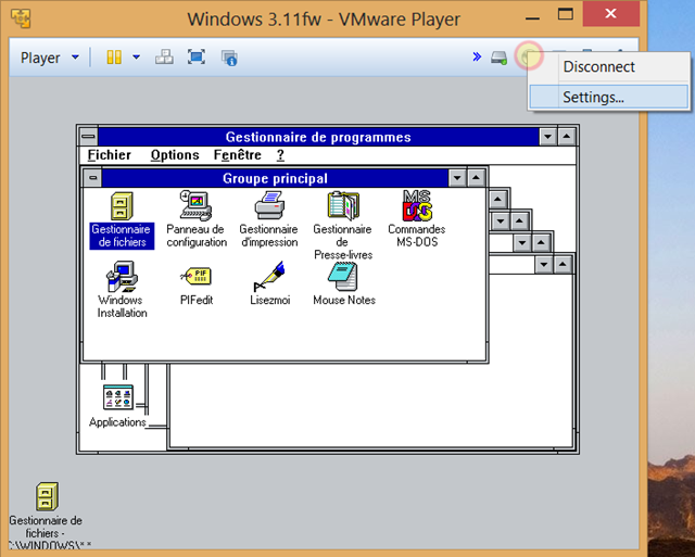 changer-CD-vmware-player